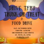 Drive Thru Trunk-or-Treat & Food Drive!
